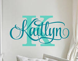 Personalized Wall Decals For Nursery Name Wall Decal Etsy