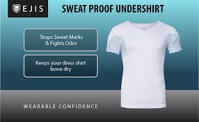 ejis sweat proof undershirts men u0027s v neck slim fit micro modal