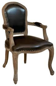 Dining Leather Chair Chair Weathered Oak Brown Leather Armchair