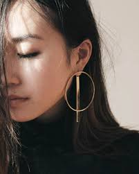 large hoop earrings a large hoop with a striking bar andwhatelse fa
