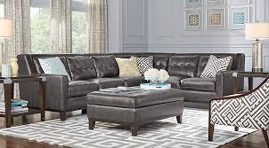 livingroom pc leather livingroom awesome design lr rm reina gray secreina point