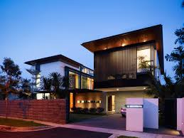 House Exterior Designs by Modern Horizontal Home Fence Designs With Minimalist House And