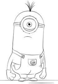 minion kevin coloring png 824 1186 michael u0027s drawers