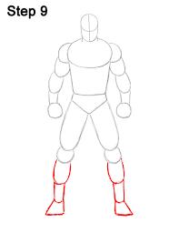 how to draw batman full body