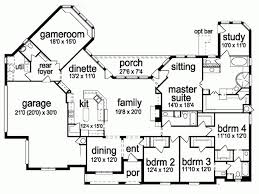 4 room house 1850 best house plans images on house floor plans