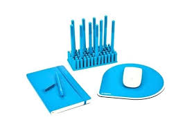 Blue Desk Accessories Teal Desk Accessories Color Coordinated Desk Accessories Pool Blue