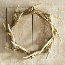 how to decorate a faux antler wreath for seasons throughout the