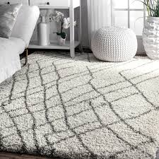 Area Rugs 9 X 12 Nuloom Moroccan Inspired Ivory Brown Abstract Shag Area Rug 9 U0027 X