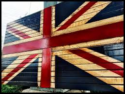 wooden british flag rustic british flag union jack flag great