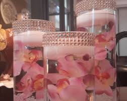 Vases With Flowers And Floating Candles Cylinder Vase Etsy