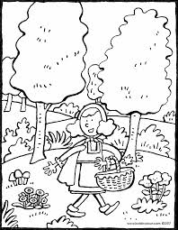 red riding hood themed colouring pages kiddi kleurprentjes