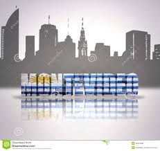 Flag Uruguay View Of Montevideo Stock Illustration Illustration Of Country