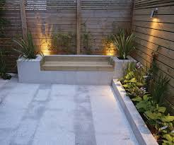 Garden Bench With Planters Brickwork U0026 Raised Planters Abstract Landscapes Ltd