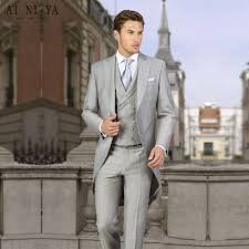 light gray vested suit men coat pant three piece suits light gray custom made suit tuxedo