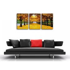 large canvas print wall art autumn fall park tree contemporary