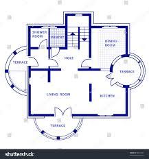 Floor Plan Shower Symbol by Project Ground Floor Vector House Blueprint Stock Vector 80815069