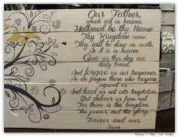 the lord u0027s prayer family tree custom painted wood sign