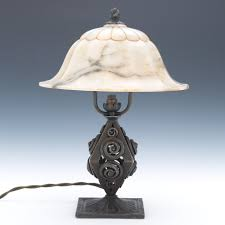 a louis katona style lamp with alabaster shade 12 13 12