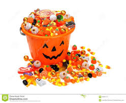 free jack o lantern clipart halloween jack o lantern pail overflowing with candy stock photo