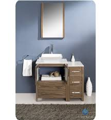 bathroom vanity with side cabinet fresca torino 36 walnut modern bathroom vanity with side cabinet