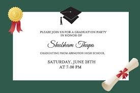 glorious formal graduation cards style invittion simple