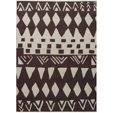 Cotton Weave Rugs Jaipur National Geographic Home Collection Tiebele Bone White Flat