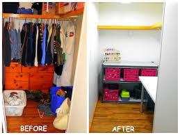 Closet Craft Room - 4eighteen closet turned craft room
