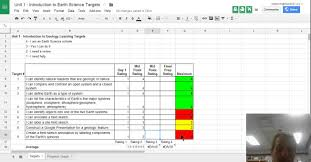 Spreadsheet Components Using Google Spreadsheets For Student Self Assessment Of Learning
