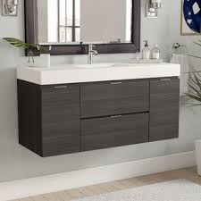 Modern Bathroom Vanities Midcentury Modern Vanity Wayfair