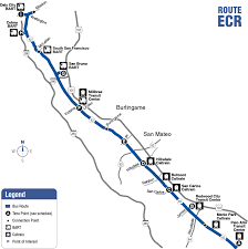 Map Of Bart Stations by Route Ecr