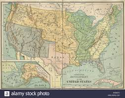 United State Of America Map by Territorial Development Of The United States America Map Circa