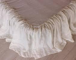 King Single Bed Valance Linen Bedskirt Etsy