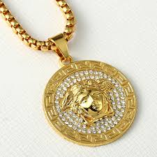 aliexpress men necklace images Men necklace 24k gold pendant jewelry trendy hip hop head gold jpg