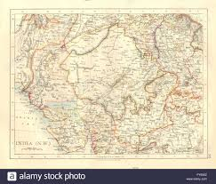 Gujarat India Map by British India Nw Rajputana Rajasthan Sindh Gujarat Malwa Stock