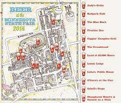 minnesota state fair map the growler s guide to craft at the minnesota state fair 2014