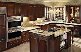Kitchen Pictures Cherry Cabinets Cherry Kitchen In Burnished Cabernet With Classic Camed Glass
