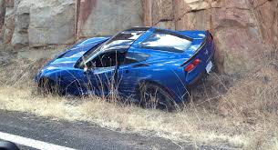 cheap corvette image 2014 chevrolet corvette stingray crashed image via