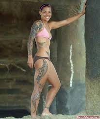 tribal and polynesian leg tattoo for girls tattoo viewer com