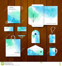 Business Card And Letterhead Design Template Company Business Card Letterhead Template Stock Photos Image