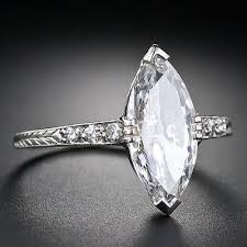 diamond rings 1 41 carat art deco marquise diamond engagement