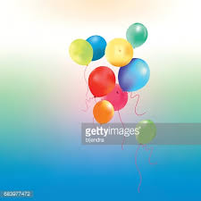 balloons greeting card happy birthday banner vector art getty images