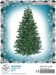 4ft artificial green christmas tree indoor xmas decoration easy