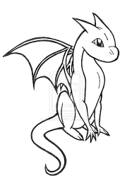 dragon outlines coloring page free download