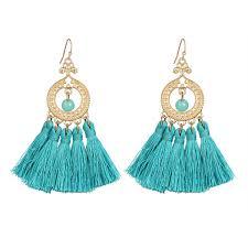 earing design 2017 earring design fashion 18k gold plated women tassel
