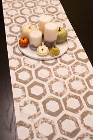 make your own table runner diy sponge sted fall table runner sarah hearts