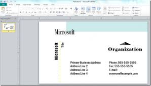 Business Card In Word Design Create A Business Card Using Microsoft Publisher 2010