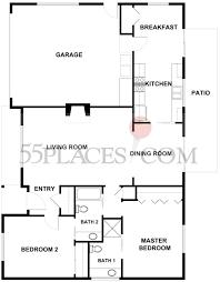 cypress floorplan 1295 sq ft oakmont village 55places com