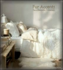 Faux Fur Bed Throw Plush Faux Fur Bedspread Scalloped Comforter Coverlet Off