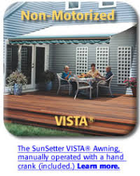 Vista Awnings Northeast Awning U0026 Window Co Sunsetter Patio Deck Awnings