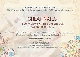 coupon great nails 7 nail salon in austin nail salon 78753